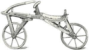 primera bicicleta del mundo, sin pedales